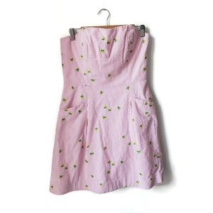 Lilly Pulitzer Seersucker Blossom Lined Dress 10